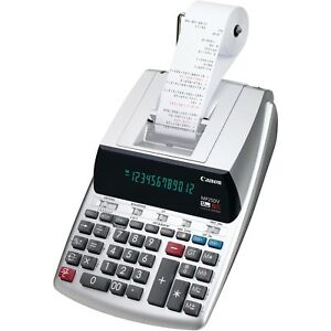 Printing Calculator Canon With Paper Roll Pen Holder