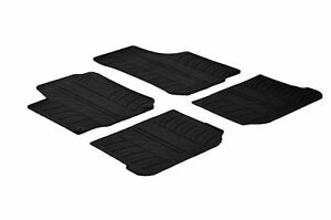 All Weather Custom Fit Rubber Floor Mats 1999 2005 Vw Golf Mk4 4 Pc Black