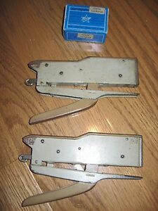 Vintage Lot Of 2 Zenith Staplers Box Of Zenith 130 bis lm Staples From Italy