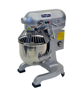 New 1hp Commercial 10 Quart Food Mixer Gear Driven 3 Speed 3 Attachment Timer