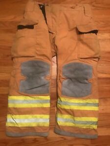 Lion Janesville Firefighter Turnout Pants Bunker Gear With Liner 38 X 28