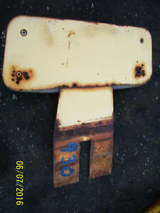 Vintage Ji Case 930 Row Crop Ck Tractor seat Back Rest Plate As Is 1966