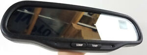 Oem Gm Auto Dim Dimming Dual Display Compass Temperature Rear View Mirror 015607