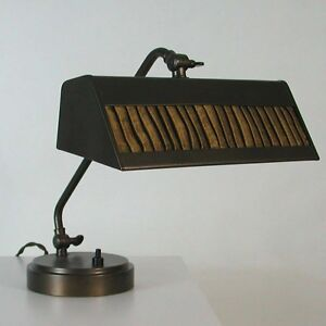 Art Deco Bauhaus Bronzed Piano Lamp Table Lamp Bedside Lamp Mood Lamp 1930s