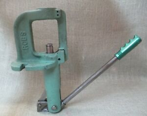 RCBS JR3 Reloading Press Cast Iron Cleaned Lubed and Ready to Work.