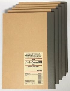 Muji Moma Recycled Paper Notebook 6mm Width B6 30 Sheets Japan New Jp