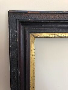 Antique Nyc Walnut And Gilt Picture Frame