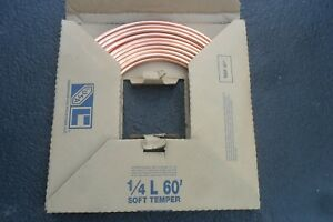 New Type L Soft Copper Tubing 1 4 inch Id X 60 ft 3 8 Od Free Shipping