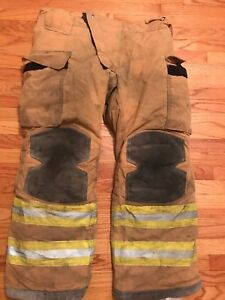 Lion Janesville Firefighter Turnout Pants Bunker Gear With Liner 38 X 30 2008