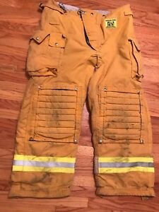 Morning Pride Firefighter Turnout Pants Bunker Gear W Liner 40 X 32 2010