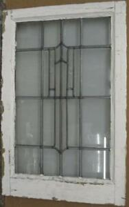 Mid Sized Old English Leaded Stained Glass Window Nice Simple Drop 17 5 X 26 5