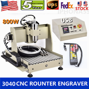 Usb 4 Axis 3040 Cnc Router 800w Engraver Milling 3d Drill vfd remote Controller