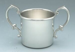 Empire Sterling Silver 2 Handle Baby Cup New In Box Made In Usa