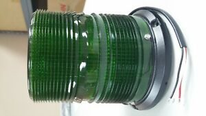 Sound Off Signal 4200 Series Led Beacon Flat pipe Mount 6 Green Leds