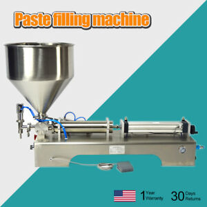 Automatic Paste Filling Machine hopper 100 1000ml Honey cream cosmetic Steel Zb