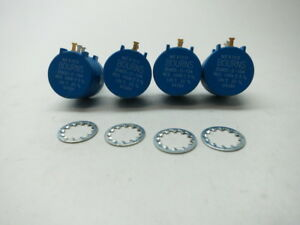 4x New Bourns 3590s 2 104 Potentiometer 100k ohm