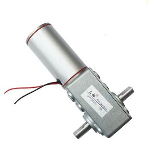 Dc 12v 18rpm 8w 22kg cm High Torque 10mm Double Shaft Low Speed Gear Box Motor