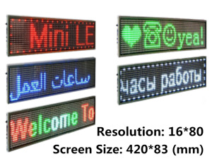 Rgb Color Led Display P10 P5 Dot Matrix Module White Sign 16x80 Slim Billboard