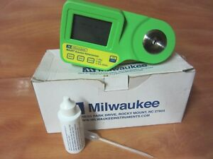 Milwaukee Ma887 Digital Seawater Refractometer Excellent Condtion Free Ship