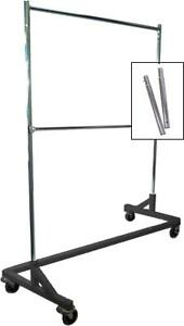 Only Hangers Gr600eh 1 Extended Height Double rail Rolling Z Garment Rack With
