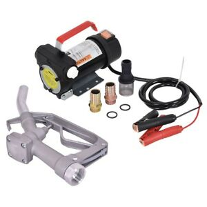 Electric Diesel Oil And Fuel Transfer Extractor Pump Tool Set 0 21hp 155w Us
