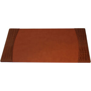 Protacini Italian Patent Leather 34 X 20 Side rail Desk Pad