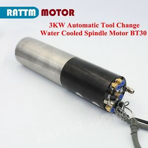 3kw Water Cooled Atc Permanent Power Electric Spindle Motor Bt30 For Cnc Milling