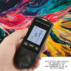 Cm8802fn 2 4 Lcd Digital Painting coating Thickness Gauge Meter Tester 0 1250um
