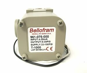 New Bellofram T 1000 I p Transducer 961 075 000 4 20ma 6 30psi Latest Revision