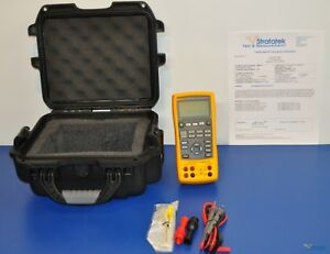 Fluke 724 Temperature Calibrator Nist Calibrated With New Leads And Warranty