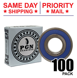 Lot Of 100 Pcs 6204 2rs Rubber Sealed Ball Bearing 20x47x14 Lubricated 6204rs