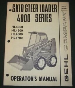 Gehl 5625 Skid Steer Loader Operator Operation Maintenance Manual Book