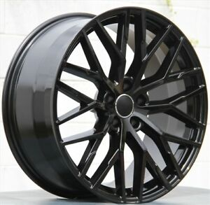 4 set 20x9 5x112 Black Wheels Rims Audi A4 A5 A6 A7 A8 S4 S5 Q5 Q3 Rs4 Rs5