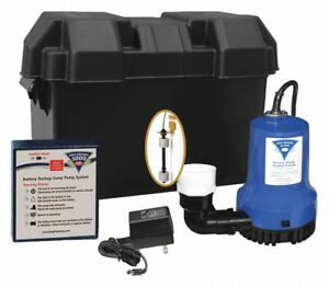 6 50 Amps Battery Backup Sump Pump With 7 3 Amps gph Of Water 5 Ft Of Head