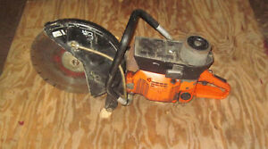 Emak Concrete Saw Good Parts Or Fix Rig With Diamond Blade