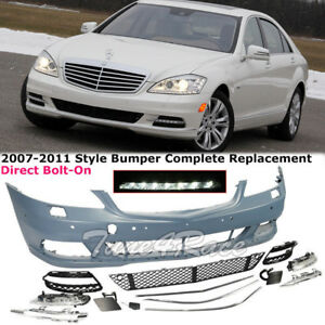 Front Fascia Bumper Body Kit For 2007 2011 W221 Mercedes Benz S Class No Sport