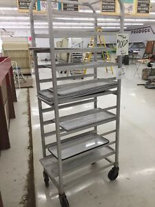20 Sheet Aluminum Bun Pan Bakery Rack Rolling Kitchen Commercial 26 X 20 X 70