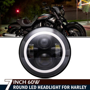 7 Motorcycle Projector Led Bulb Headlight For Harley Davidson