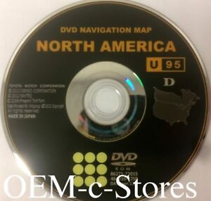 U95 Update For 2011 2012 Toyota Avalon Sienna Navigation Oem Dvd U s Canada Map