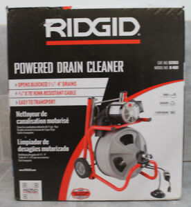 nib Ridgid 115 volt K 400 Drain Cleaning Drum Machine With C 32 3 8 In