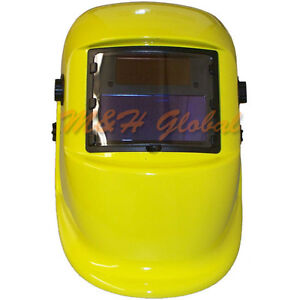 Solar Auto Darkening Welding Helmet Yellow Lime