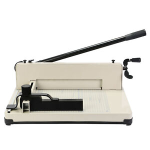 12 Manual Paper Cutter Heavy Duty A4 Commercial 400 Sheets Book Trimmer Machine