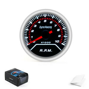 Tachometer 2 52mm White Led Car Pointer Tacho Gauge Meter 0 8000 Rpm Smoke Lens