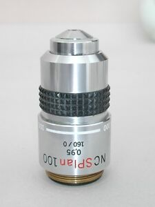 Olympus Nc Splan 100x Microscope Objective For Bh2 Bhs Bht Series Nice