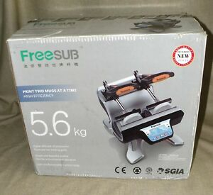 New Freesub Automatic Double Mug Heat Press St 210 Sublimation Transfer Printing