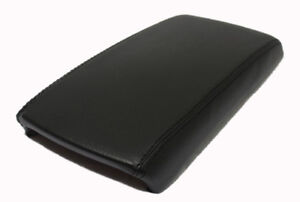 Black Center Console Lid Armrest Cover Real Leather Fits 07 12 Nissan Altima