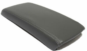 Gray Center Console Lid Armrest Cover Synthetic Leather Fits 07 12 Nissan Altima