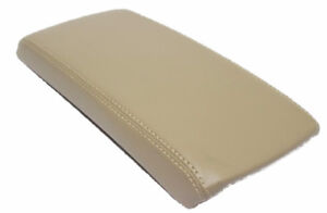Beige Center Console Lid Armrest Cover Synthetic Leather Fit 07 12 Nissan Altima