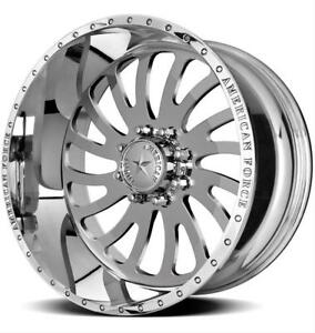 22 Inch 22x12 American Force Octane Ss Polished Wheel Rim 8x170 40