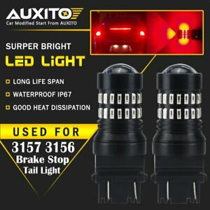 2x Auxito 3157 3047 3156 Red Led Stop Brake Tail Light Bulb For Gmc Sierra 1500